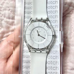 Brand New Swatch White Classiness Watch